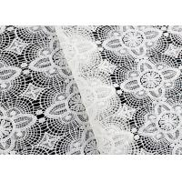 Quality Floral Schiffli Guipure Lace Fabrics With Chemical Poly Milk Fiber SGS Approval wholesale