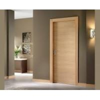Simple Plywood Flush Panel Wooden MDF Interior Doors For Hotel Break Resistance