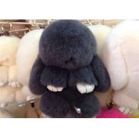 Quality Luxury Colorful Fluffy Rabbit Keyring Portable For Handbag Charm Pendant wholesale