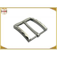 Quality Metal Zinc Alloy Pin Belt Buckle With Clips Nickel Color With 40 MM wholesale