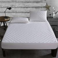 China Brushed Fabric Quilted Waterproof Mattress Pad Cover Fitted Mattress waterproof bed Sheet Matress bed protection on sale