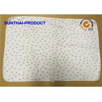 Quality Chenille Plush Baby Blankets Round Corner Big Dots All Over Print SGS Approved wholesale