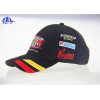 Cheap Classical Design V8 Supercards Black Custom Baseball Caps With Patch Embroidery for sale