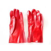 Quality protective red PVC dipped glove acid alkali resistance gloves working gloves wholesale
