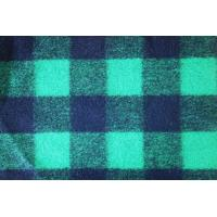 Quality Deep Green Tartan Material Check Wool Fabric For Winter Overcoat wholesale