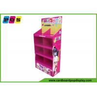 Quality Stores Cardboard Floor Standing Display Unit For Dolls , Cmyk 4c Printing wholesale