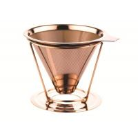 Buy cheap Double Layer Custom Paperless Coffee Dripper With Cup Stand , FDA LFGB Standard from wholesalers