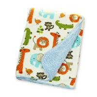 China Square Swaddle Wrap For NewbornBaby , Warmer Berber Fleece Blanket For Baby on sale