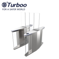 Quality Tempered glass Half Height Speed Gate Turnstile Security Rfid Card Reader wholesale