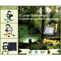 Buy cheap Aluminum Alloy 12V 1A Solar LED Spotlights Rechargeable Led Work Light 10w from wholesalers