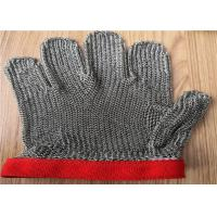 China Five Fingers Stainless Steel Cut Resistant Gloves , Metal Meat Cutting Gloves on sale