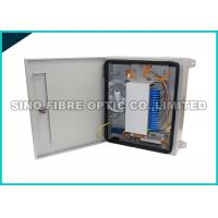 Quality 24 Capacity Fiber Optic Distribution Box Outdoor Filleted Corner FC / SC Adapters wholesale