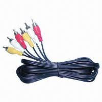 Quality Audio Video RCA Cable 12ft with Black Color  wholesale
