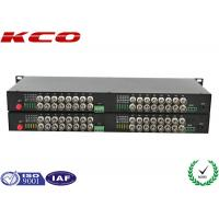 Quality Video To Fiber Optic Converter 32 Video Ways Rack Mountable Long Distance Point wholesale