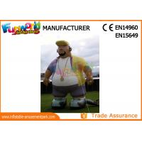 Quality Oxford Cloth White Advertising Inflatables Man / Blow Up Cartoon Mascot wholesale