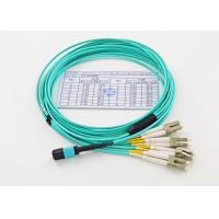 Quality 12 Core Fiber Optic Patch Cord MPO/MTP - LC 10G OM3 MM 50/125um Breakout Cable wholesale