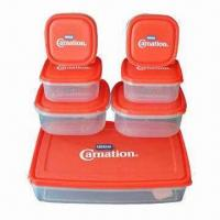 Quality PP Food Storage Box Set, Available in Various Sizes and Colors, BPA-free, FDA/EN 71 Certified wholesale