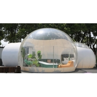 Quality Dome House Igloo Transparent Inflatable Tent with 4 Parts Bathroom, living room, bedroom and passageway wholesale