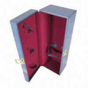 Quality Wine Packaging, Christmas Gift Box, Single Wine Bottle, Metal Locked, for Vodka Packaging wholesale