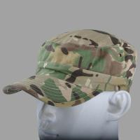 Quality 3D Embroidery Flat Top Army Cap Military Peaked Hat Strap Closure For Men / Women wholesale