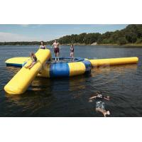 Quality Commercial Grade Inflatable Water Trampoline Combo and Blob For Fun wholesale
