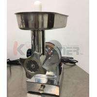 Quality Beef  Electric Meat Grinder With Sausage Stuffer Foot Pedal Control 3 Grinding Plates wholesale