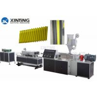 Buy cheap PE 50mm Plastic Round / Flat Corrugated Pipe Production Line Anti Leakage from wholesalers