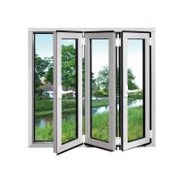 Quality White Safety Double Folding Glass Windows waterproof Coated With Grill wholesale
