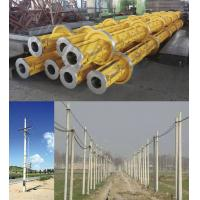 Quality Yellow Electric Prestressed Concrete Poles , Precast Concrete Pole ISO wholesale