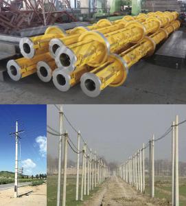 Quality Yellow Electric Prestressed Concrete Poles , Precast Concrete Pole ISO wholesale