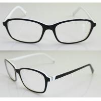 Cheap Black & White Fashion Eyeglass Frames, Custom Acetate Eyewear Frames For Men for sale