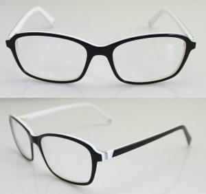Cheap Black & White Fashion Eyeglass Frames, Custom Acetate Eyewear Frames For Men for sale