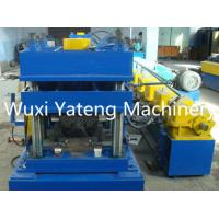Quality Gcr15 Three Waves Highway Guardrail Roll Forming Machine , Sheet Metal Roll Former Machine 380V / 50HZ wholesale