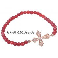 Quality Elegant designs and excellent finishing agate beads bracelet, cross silver bracelet with factory price wholesale