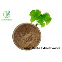 China 100% Natural Ginkgo Biloba Leaf Extract Powder Dilate Blood Vessels on sale