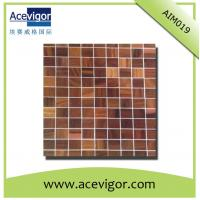 Quality Square wood mosaic tiles for bathroom or living room wall decoration wholesale