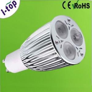 Quality Energy Saving 3*3W High Power LED Spot Bulbs for Office Work Station Gu10 9w 12V AC / DC wholesale