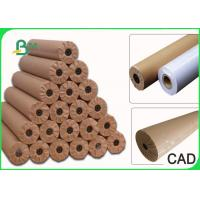 Quality 24  36  48  60  × 50m Plain CAD Drawing Paper Roll For Apparel Factory 80GSM wholesale