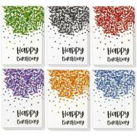 Quality Paper Holiday Greeting Cards , Confetti Design Birthday Greeting Cards wholesale