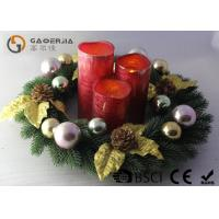 Quality Advent Wreath With Led Candles Set Of 3 Blow On / Off Multi Function wholesale