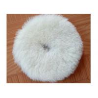 Quality Flexible Wool Blend Paint Polishing Pads , Double Sided Wool Buffing Pad OEM wholesale