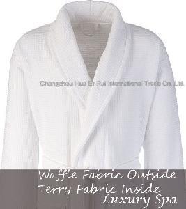 China Waffle Terry Bathrobe on sale