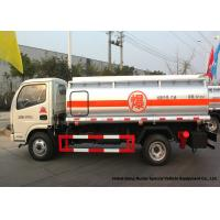Quality 4x2 Refueling Fuel Oil Delivery Truck 4000 L With Dual Circuit Compressed Air Brake wholesale