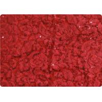 Quality Red Lightweight Lace Overlay Fabric Home Decorator Fabric Cloth wholesale