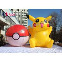 Cheap OEM Lovely Yellow Cartoon Blow Up Model Inflatable Pikachu For Decoration for sale