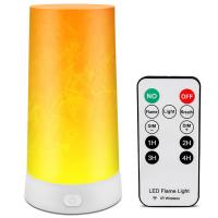 China Dimmable Rechargeable Led Magnet Flame Light  Dc 5v Remote Control Flame Table Lamp on sale