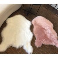 China Soild Plush Faux Fur Animal Rug , Luxury Fur - Thick White Washable Faux Fur Rug on sale