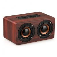 Quality Retro Wood Bluetooth Speaker Wireless Speaker Support AUX TF Card for Smartphone wholesale