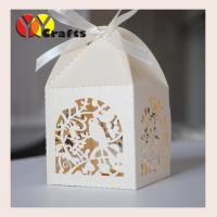 China Ivory color wedding favor cake boxes laser cut wedding gifts and decoration box on sale