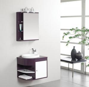 Quality 50 X 47 X 48 / cm PVC bathroom cabinet 48 single sink vanity customized Dimenstions wholesale